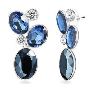 Náušnice so Swarovski Elements Saint Francis Crystals Blau Deep