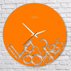 Nástenné hodiny Orange Confusion