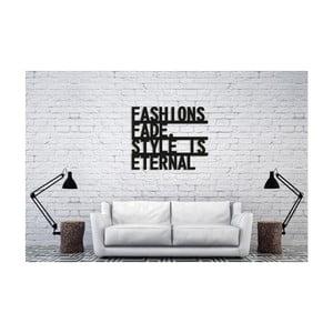 Čierna nástenná dekorácia Oyo Concept Eternal Style, 60×50 cm