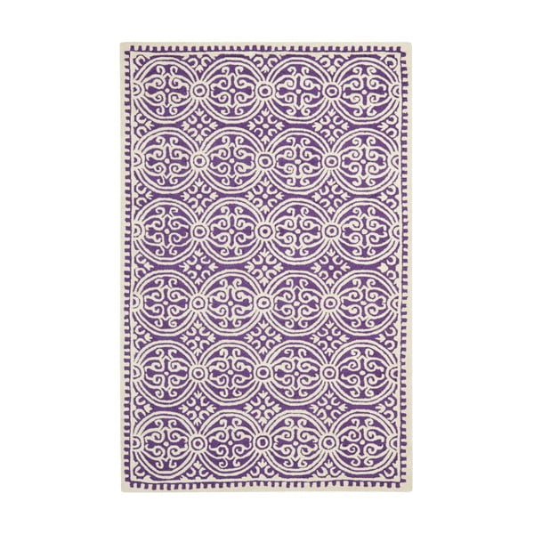 Vlnený koberec Marina Purple, 152x243 cm