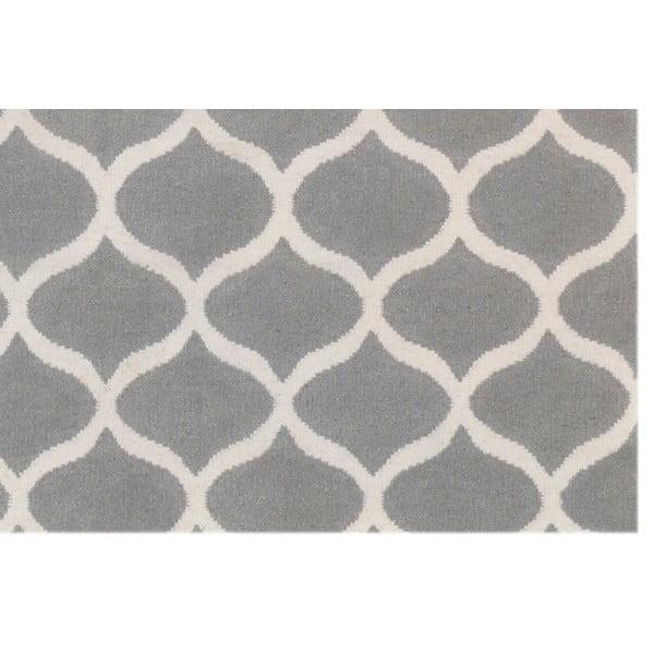 Strieborný vlnený koberec Bakero Alize, 140 x 200 cm