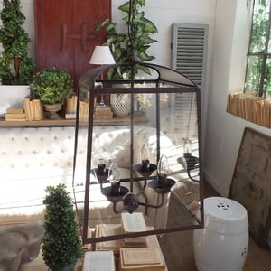 Stropné svietidlo Orchidea Milano Antique Rusty, 4 svetielka