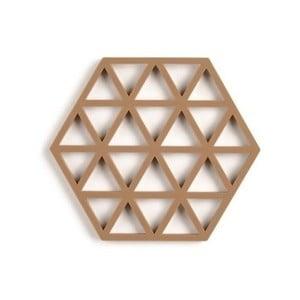 Pieskovohnedá silikónová podložka pod hrniec Zone Triangles