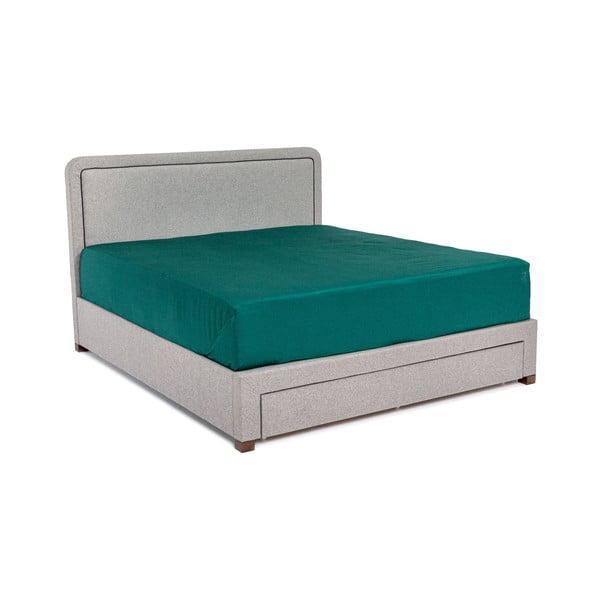 Sivá dvojlôžková posteľ Chez Ro Sascha, 180×200 cm