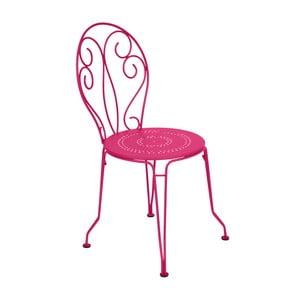 Ružová kovová stolička Fermob Montmartre