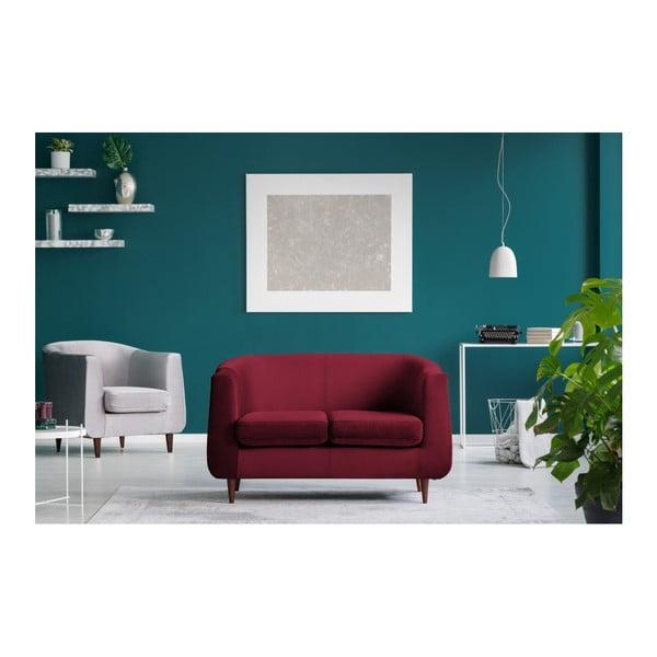 Červená dvojmiestna pohovka Kooko Home Glam