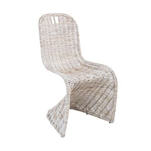 Biela ratanová stolička Bizzotto Zacarias