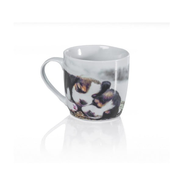 Porcelánový hrnček Sabichi Puppies, 350 ml