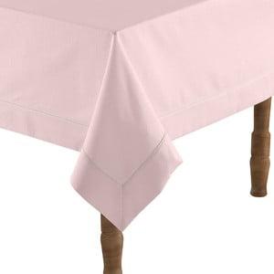 Púdrovo-ružový obrus na stôl s prímesou bavlny Bella Maison, 160×160 cm