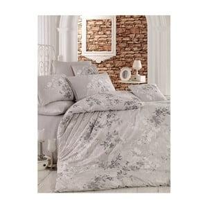 Sivé obliečky na dvojlôžko Elena, 200 x 220 cm