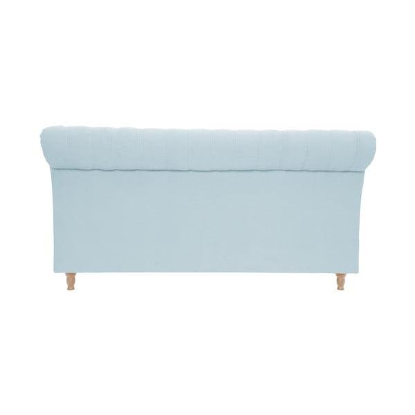 Pastelovomodrá posteľ Vivonita Allon 180x200cm, prírodné nohy