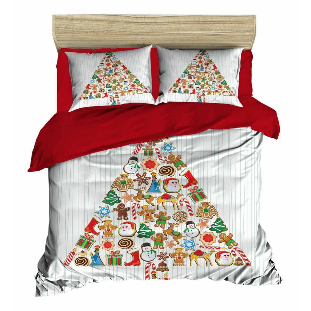 Vianočné obliečky na dvojlôžko s plachtou Marisa, 160×220 cm