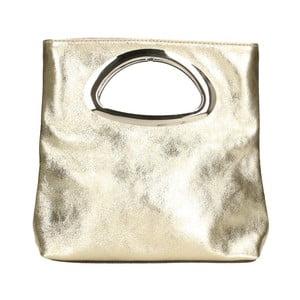Kožená kabelka v zlatej farbe Chicca Borse Lumino