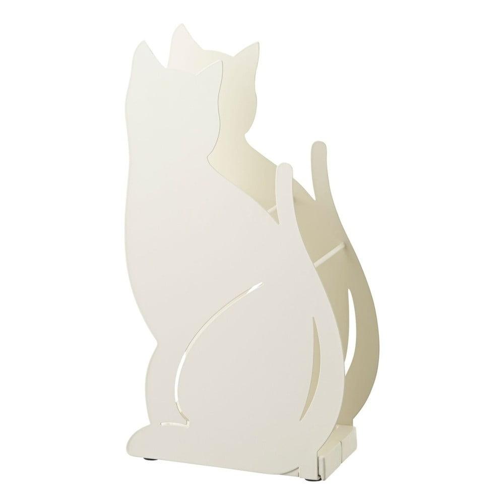 Biely stojan na dáždniky YAMAZAKI Cat