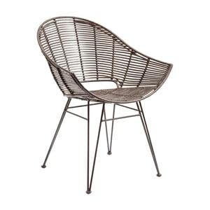 Ratanová stolička s opierkami na ruky Kare Design KoPhai