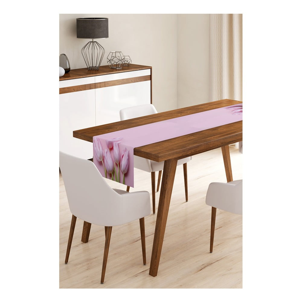 Behúň na stôl z mikrovlákna Minimalist Cushion Covers Tulips, 45 × 145 cm
