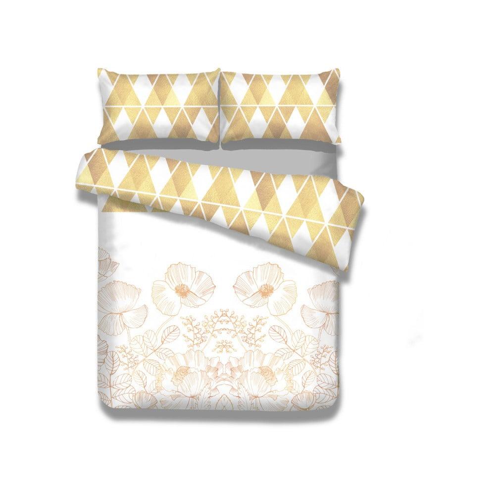 Flanelové posteľné obliečky AmeliaHome Golden Poppy, 155 x 220 cm