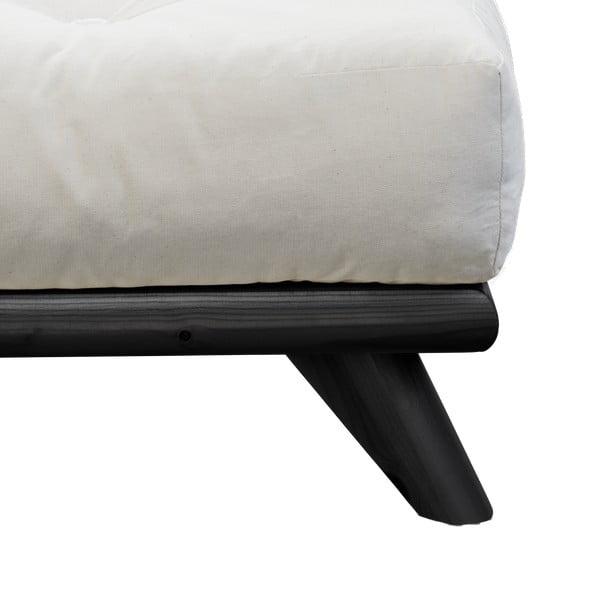 Posteľ Karup Senza Bed Black, 160×200 cm