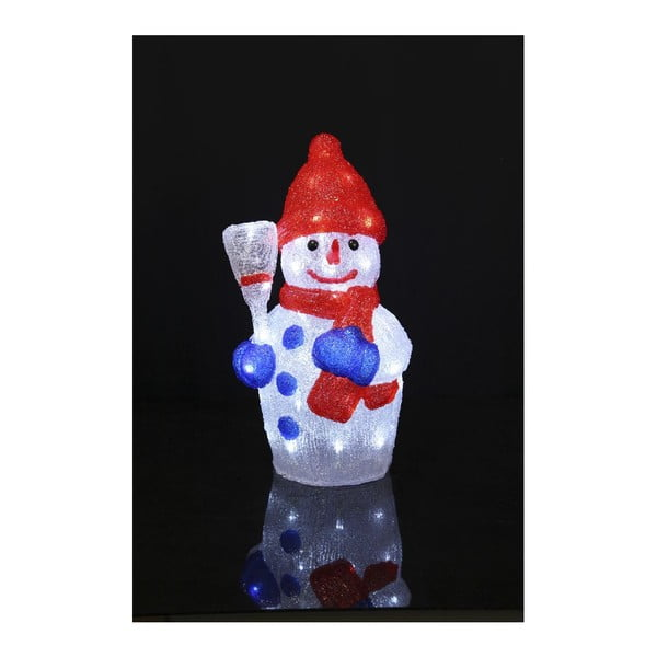 Svietiaca dekorácia Crystal Snowman, výška 45 cm
