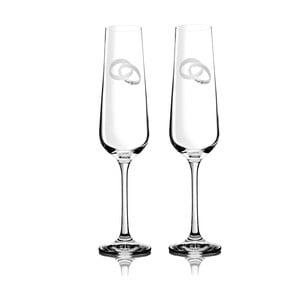 Sada 2 pohárov na šampanské Allegro so Swarovski Elements v luxusnom balení