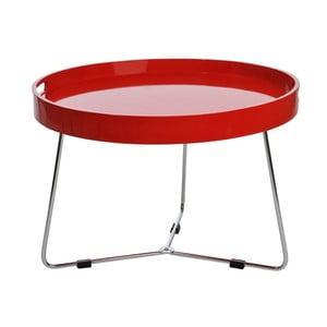 Odkladací stolík Metal Red, 60x44 cm