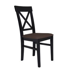 Čierna stolička s hnedým sedadlom BSL Concept Hinn