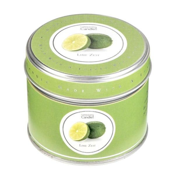 Aromatická sviečka v plechovke s vôňou limetiek Copenhagen Candles, doba horenia 32 hodín