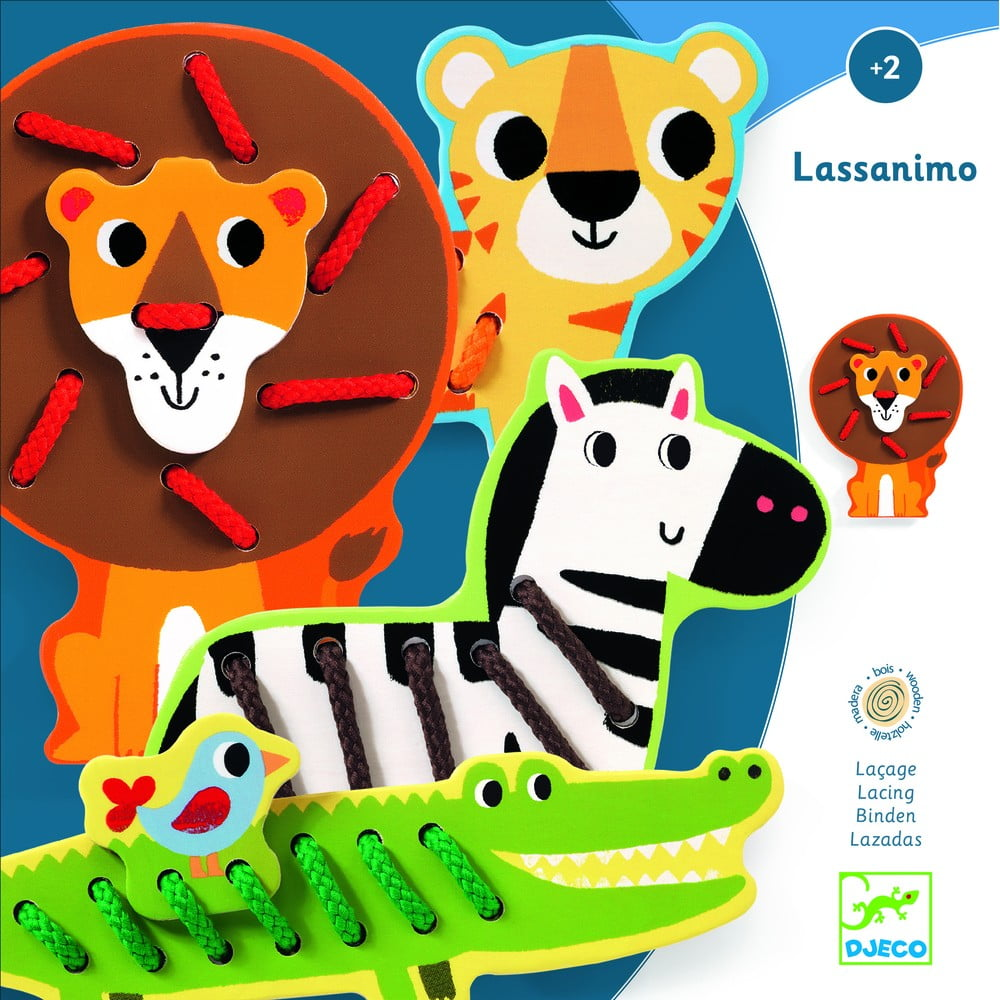 Detské drevené zvieratká z džungle Djeco