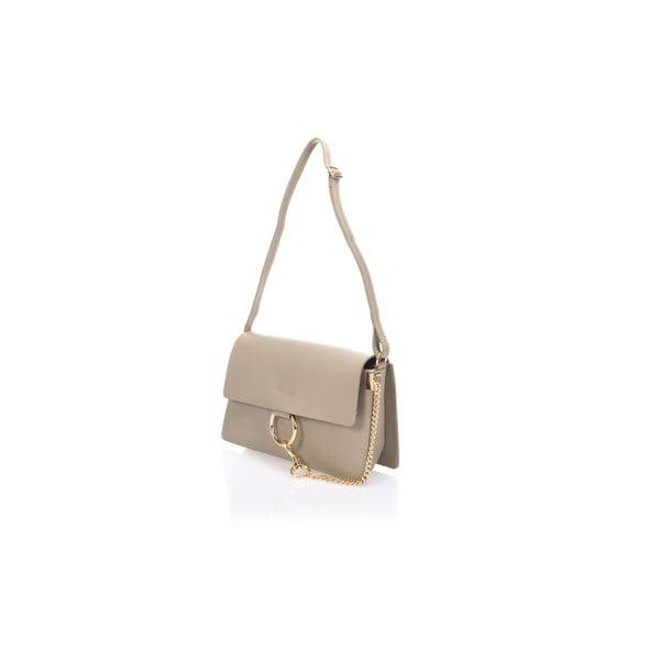 Béžová kožená kabelka Giorgio Costa Gita