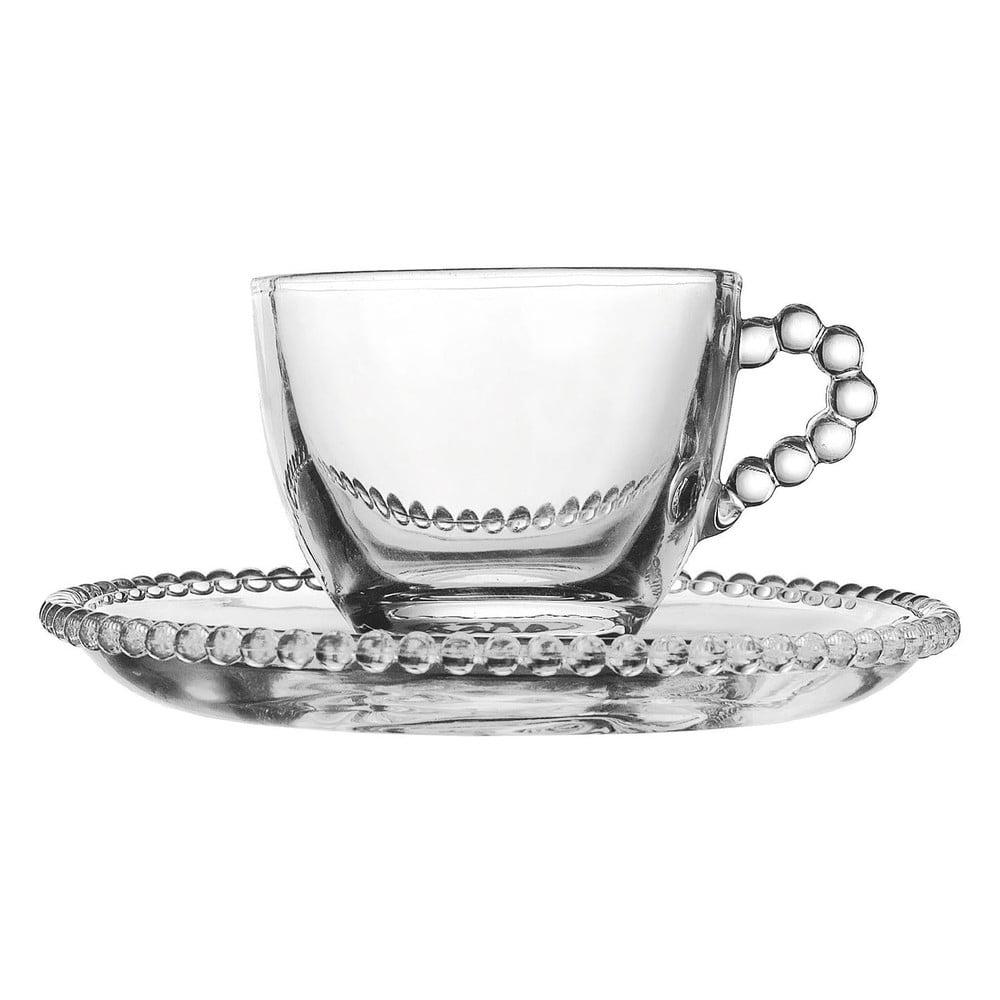 Sklenený hrnček s tanierikom Côté Table Pearls