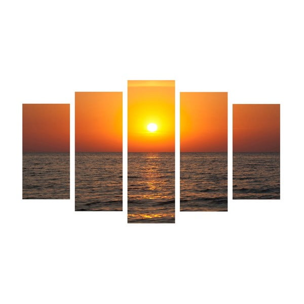 5-dielny obraz Sun & Sea, 60x100 cm
