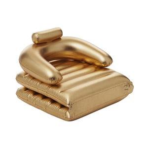 Polohovateľné nafukovacie kreslo/ležadlo v zlatej farbe Sunvibes Dorée