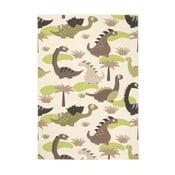 Detský zeleno-hnedý koberec Zala Living Dino, 140×200cm