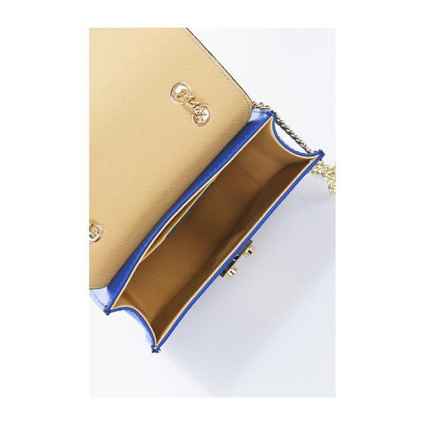 Modrá kožená kabelka Giulia Massari Skata
