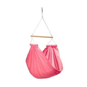 Ružové hojdačky z bavlny so zavesením do stropu Hojdavak Junior, 3 - 10 rokov
