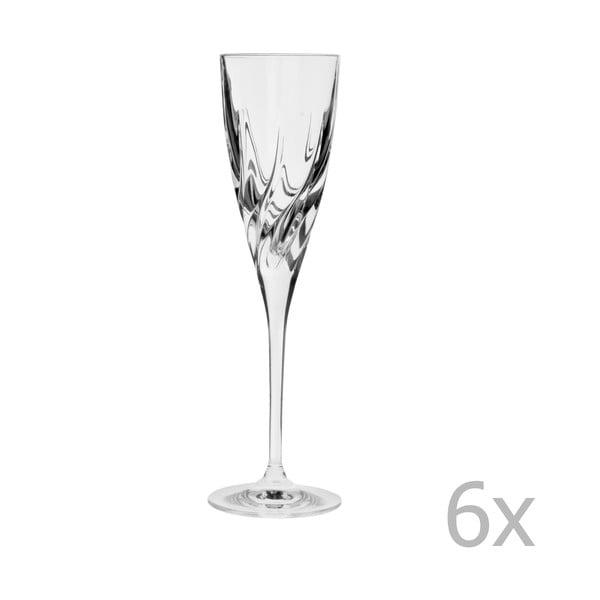 Teraz 6 pohárov na šampanské Crystal Bettina