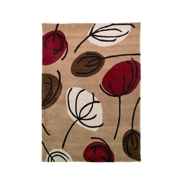 Koberec Fifties Floral, 120 x 170 cm, červený