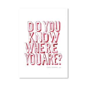 Plagát Do You Know Who You Are, 30x42 cm
