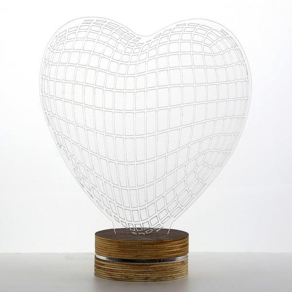 3D stolová lampa Heart