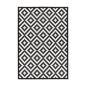 Černo-biely obojstranný koberec Narma Viki Black, 200 x 300 cm