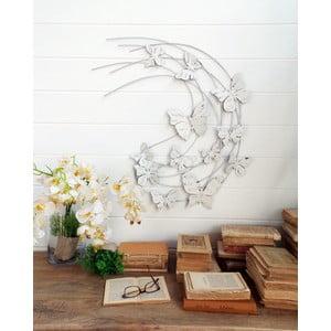 Nástenná dekorácia Butterflies Pannel White