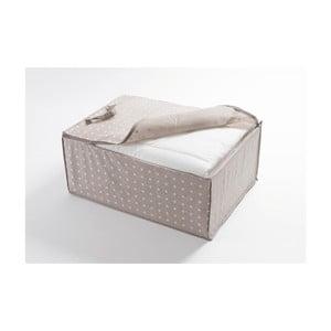 Malý béžový úložný box Compactor Dots, 50 × 70 cm