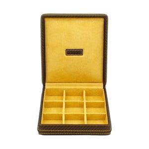 Krabička na manžetové gombíky Carbon Gold