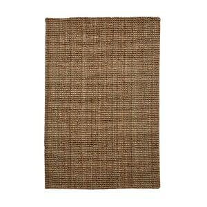 Hnedý jutový koberec vhodný do exteriéru Native, 180 × 120 cm