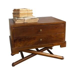 Nočný stolík z teakového dreva Orchidea Milano Safari
