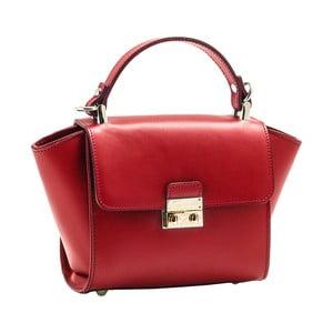 Červená kabelka z pravej kože Andrea Cardone Patero