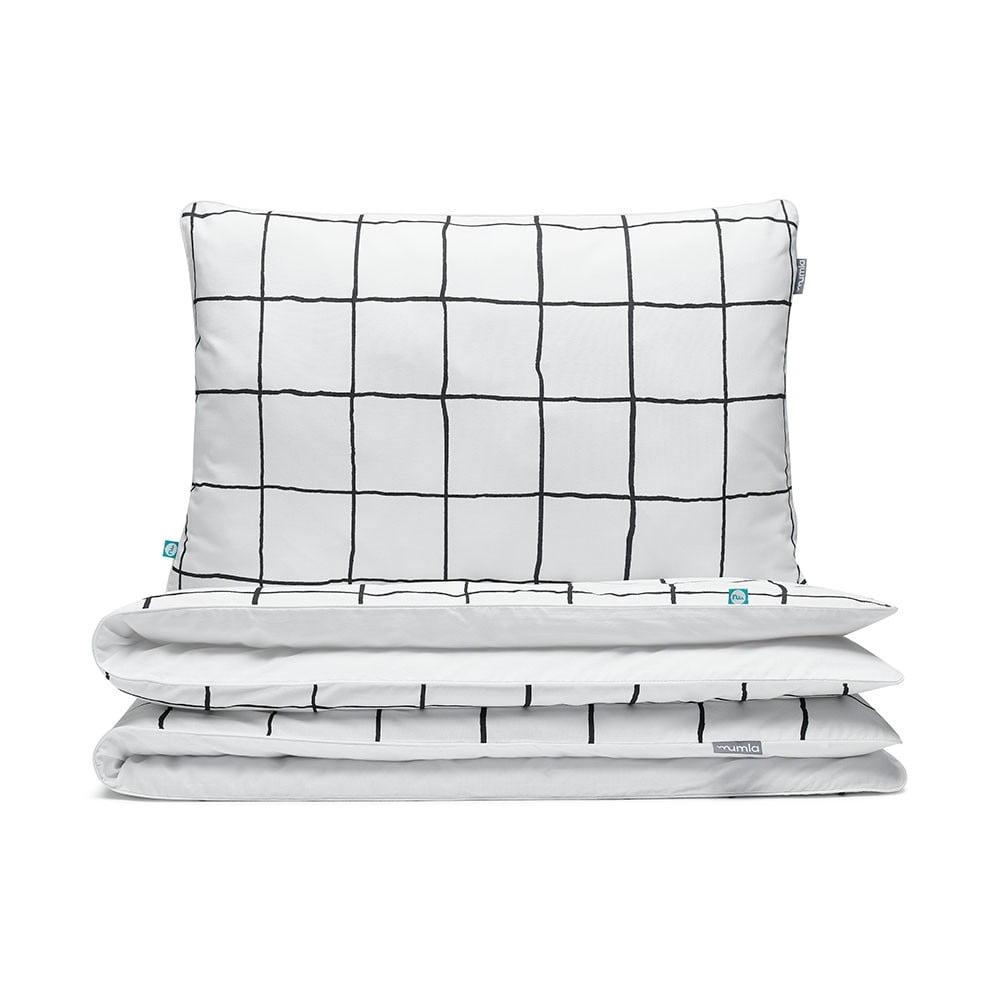 Bavlnené obliečky na dvojlôžko Mumla Grid, 200 × 200 cm