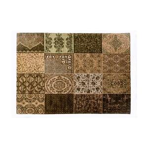 Hnedý koberec z bavlny Cotex Colorado, 140 × 200 cm