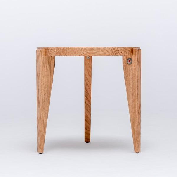 Dubový kávový stolík Bontri, 50x50 cm