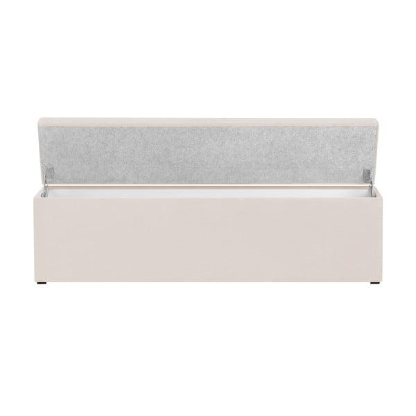Krémový otoman s úložným priestorom Cosmopolitan Design LA, 180 x 47 cm